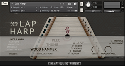 Cinematique Instruments Lap Harp