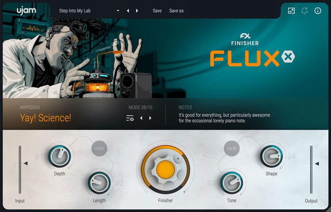uJam Finisher Fluxx GUI