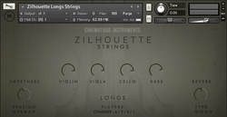 Cinematique Instruments Zilhouette Strings Longs