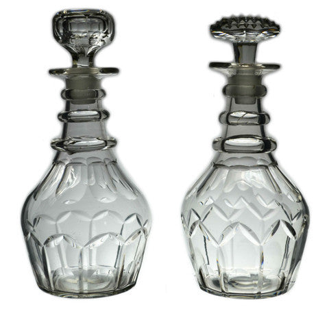 Antique Georgian glass decanters