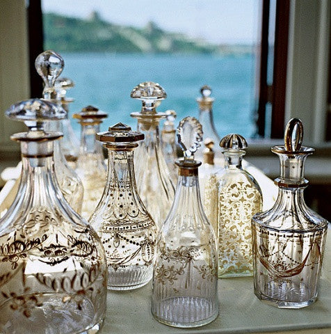 The popularity of using and collecting antique and vintage glass decanters