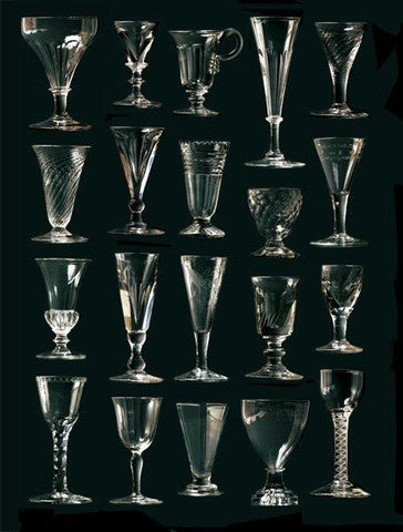 Antique English wine glasses