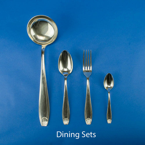 Art Deco silver cutlery set