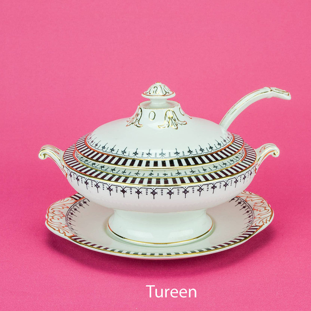 Black and white tureen