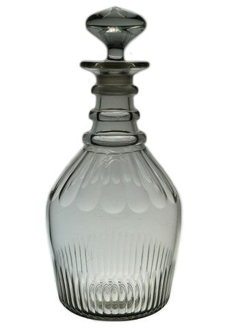 Antique English glass decanter