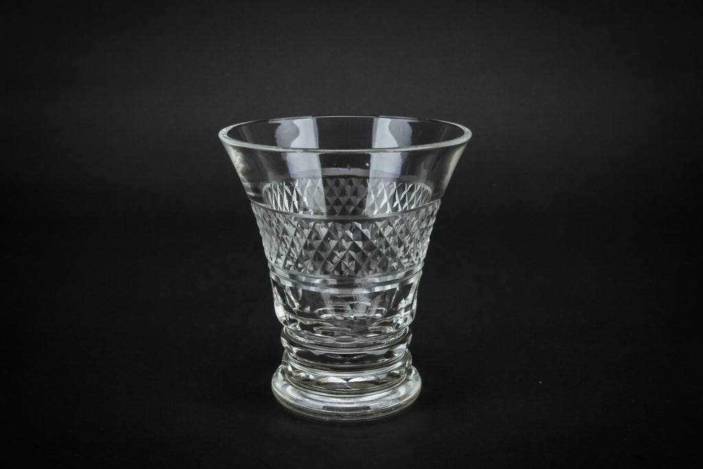 Cut glass condiment bowl