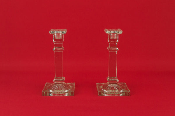 2 Art Deco candlesticks