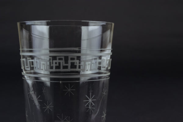 Star engraved cocktail glass