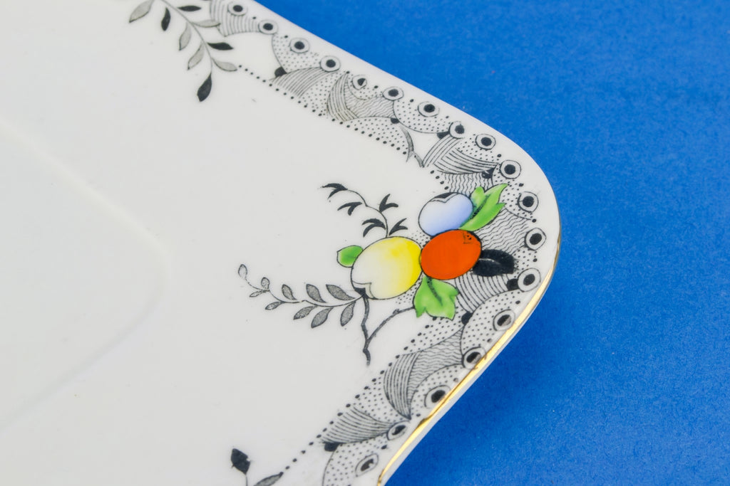 Art Deco cake serving plate