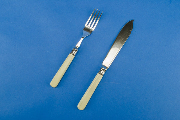Knives and forks set for 6