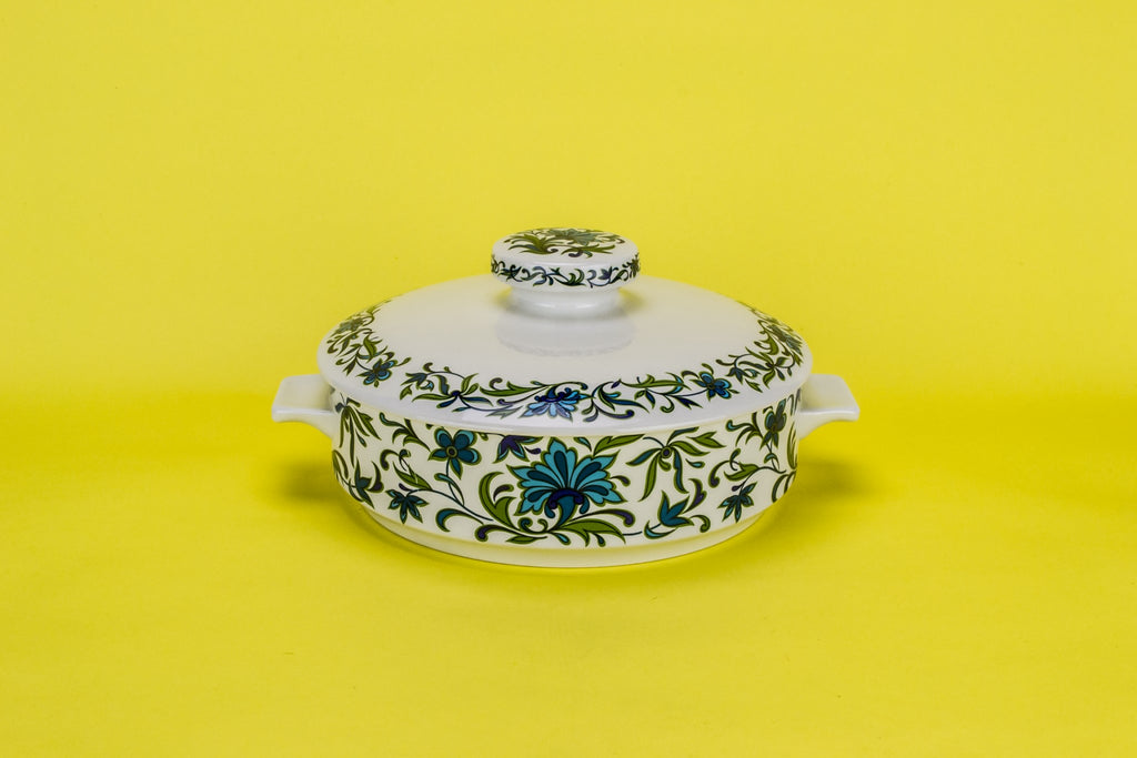 Turquoise serving tureen
