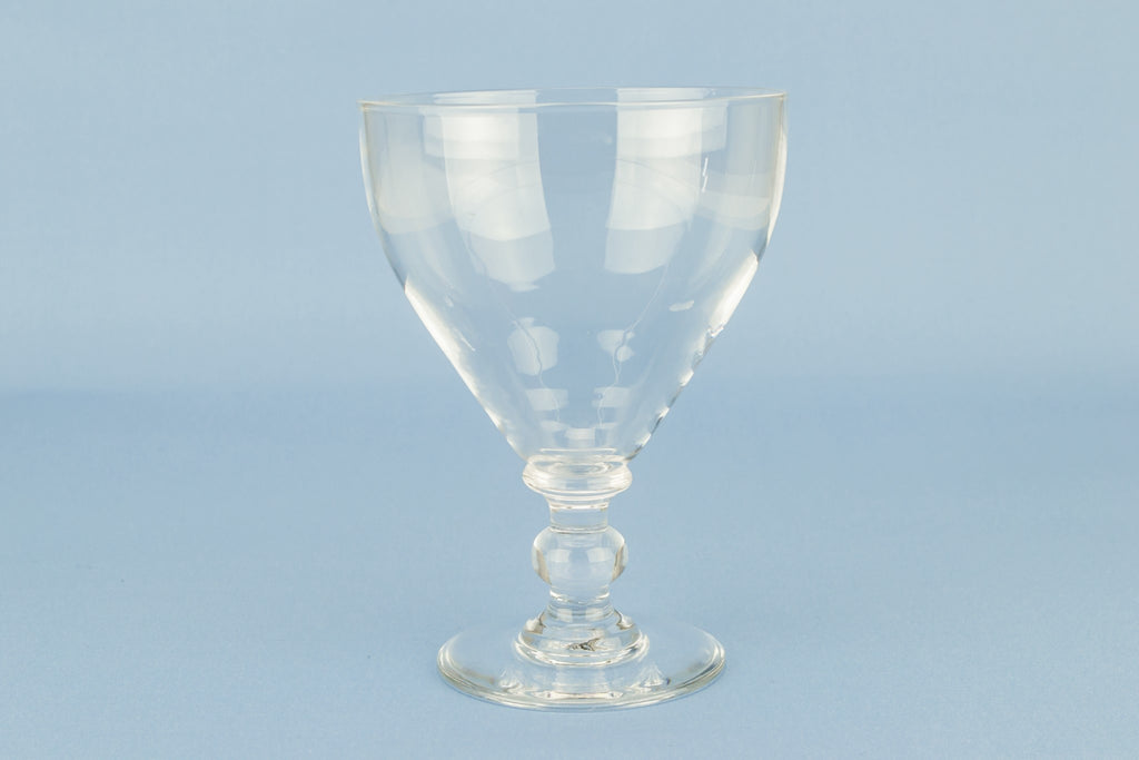 Large glass wine rummer