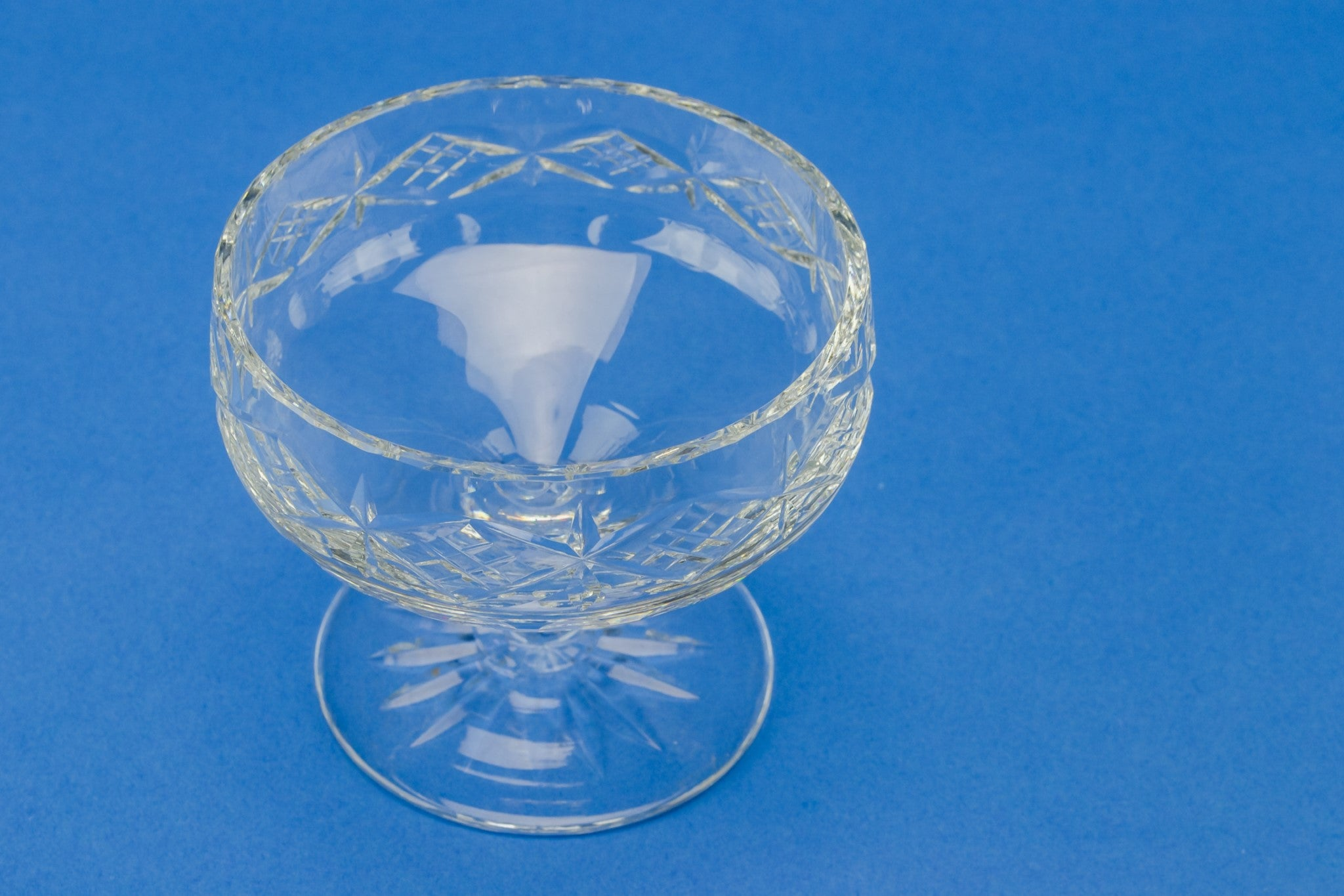 2 cut glass dessert bowls