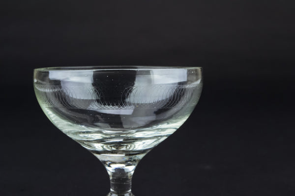 Engraved Champagne saucer