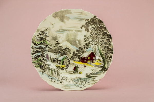 Country scene serving plate