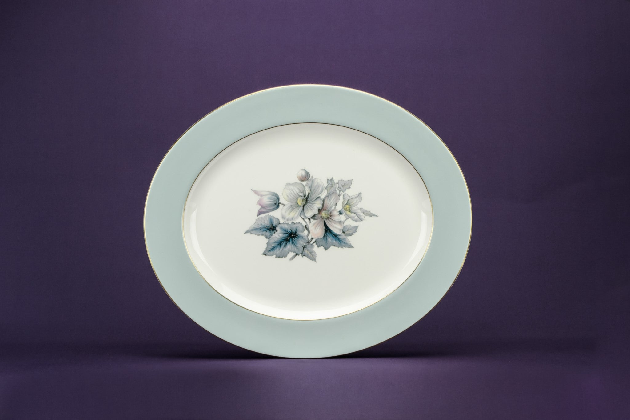 Large blue serving platter