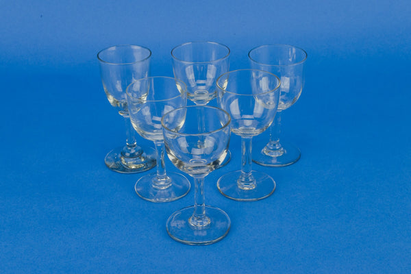 6 port or sherry glasses