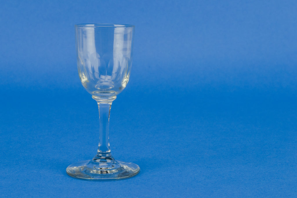6 sherry stem glasses