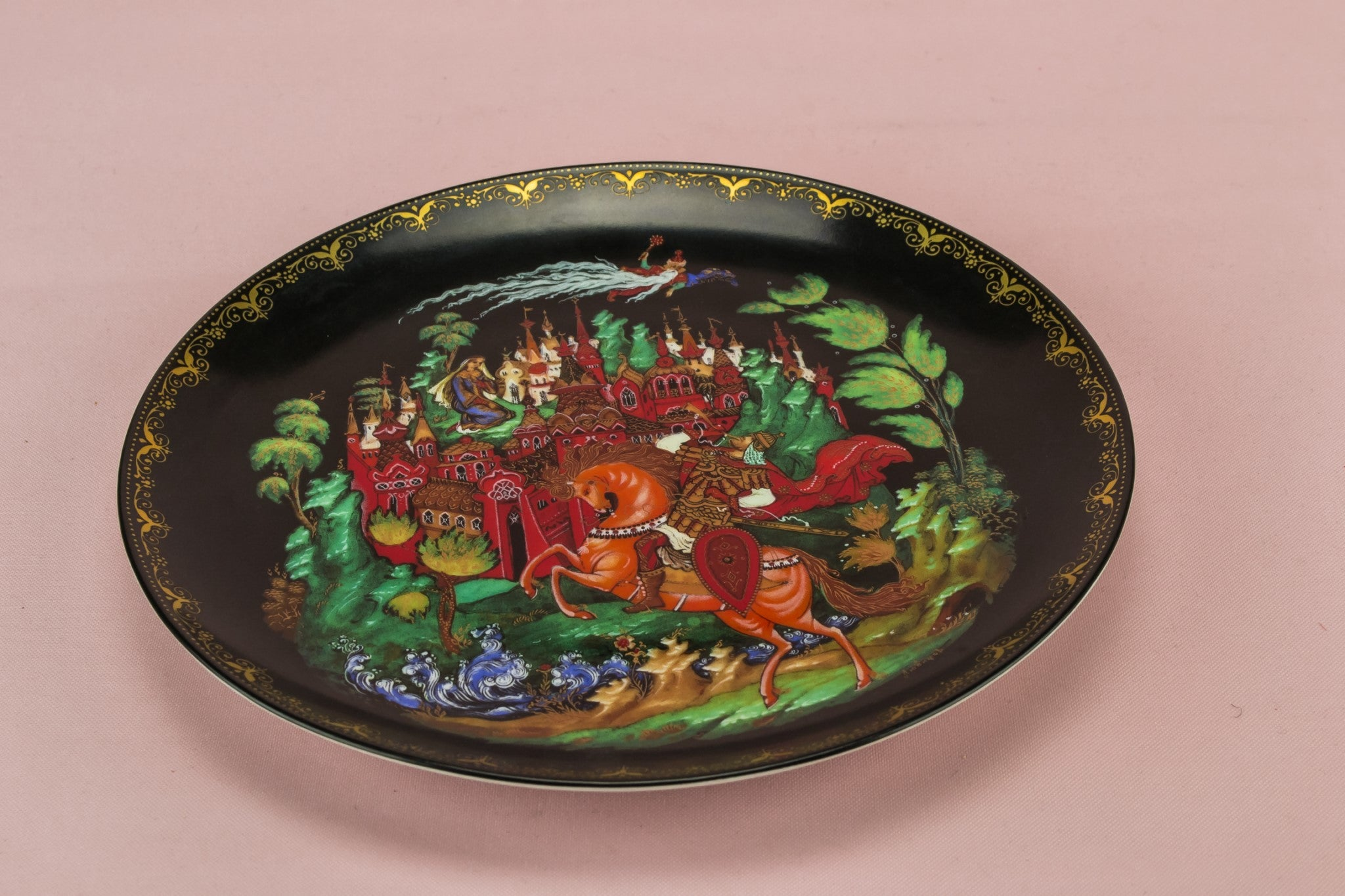 Fairy tale painted plate