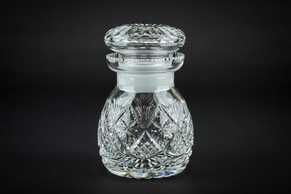 Glass condiment jar