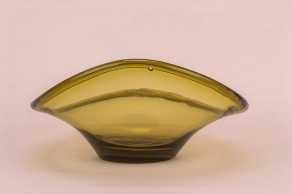 Amber glass decorative bowl
