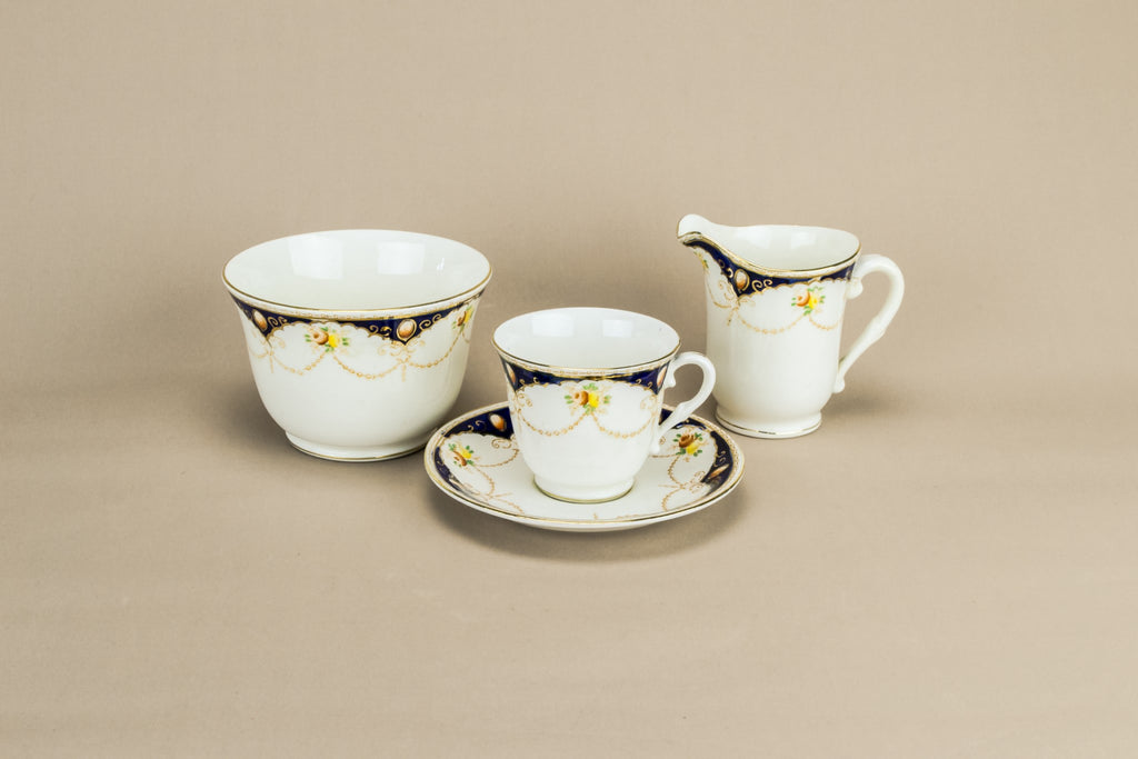 Flow blue coffee set for 5