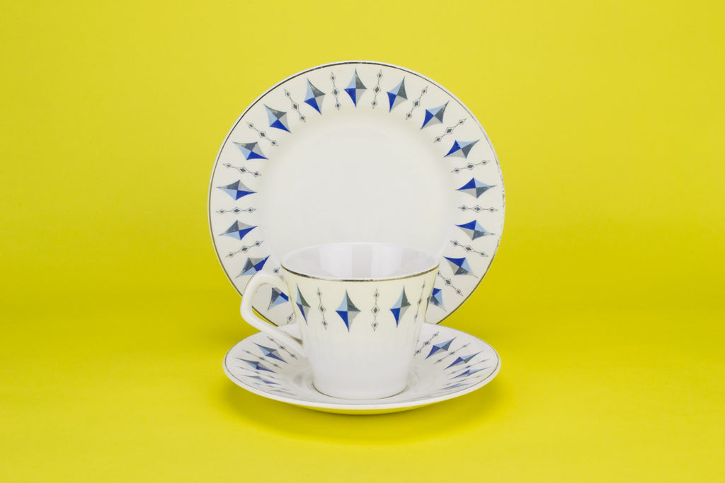 Coffee set for 2 in blue