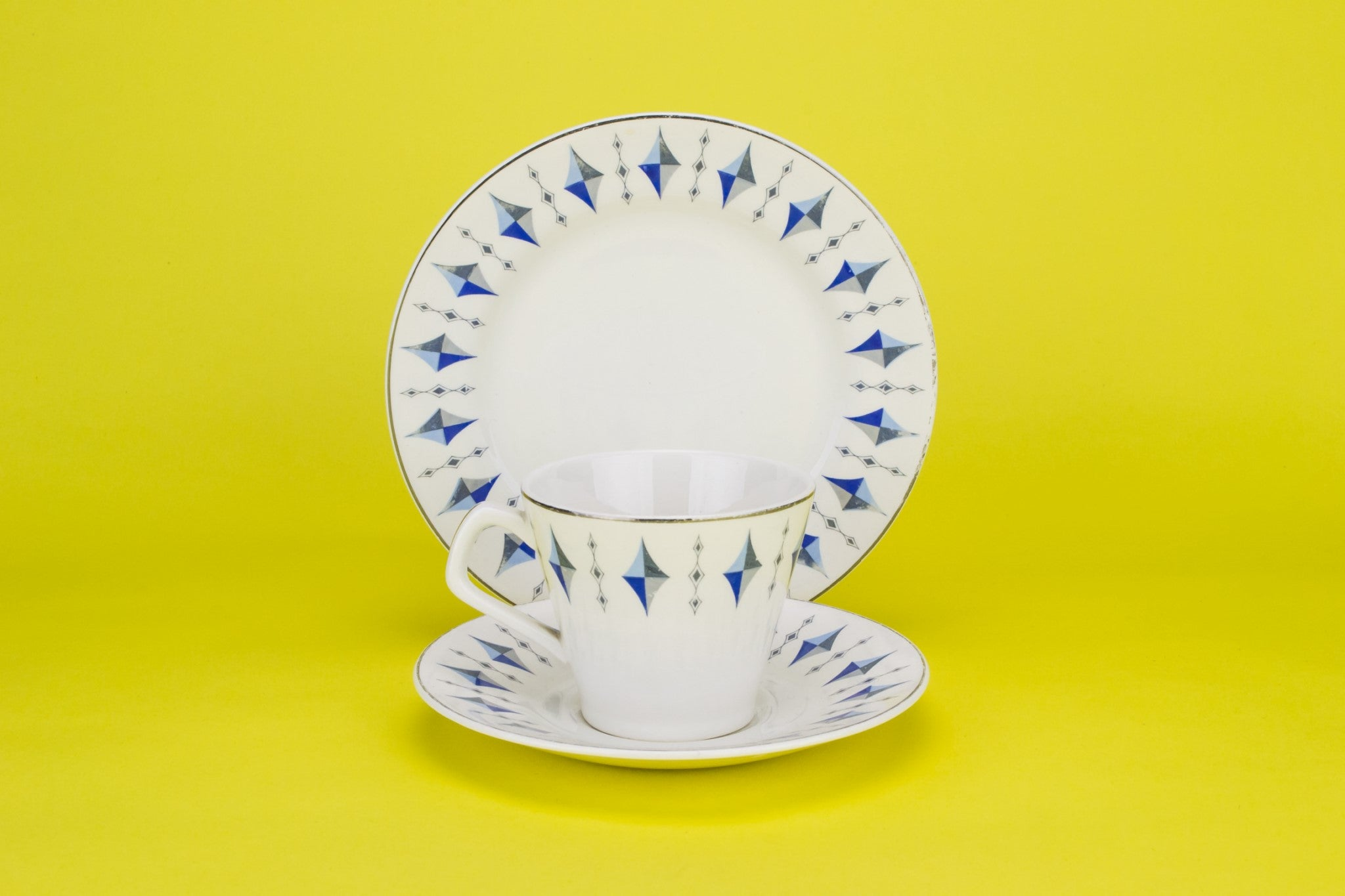 Blue and white coffee set, English 1960s