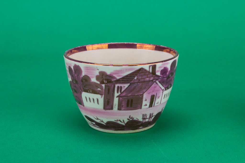 Purple teacup and saucer