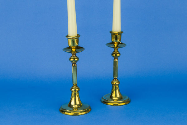 Pair of brass candlesticks