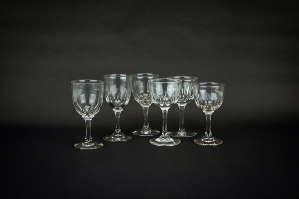 6 port and sherry glasses