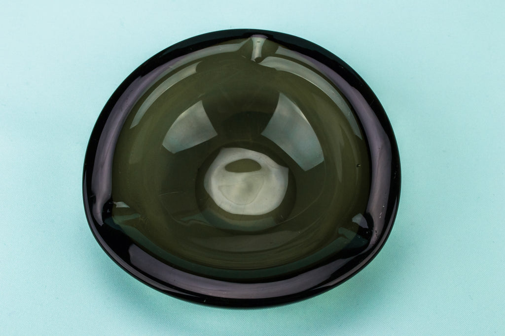 Orrefors grey glass ashtray
