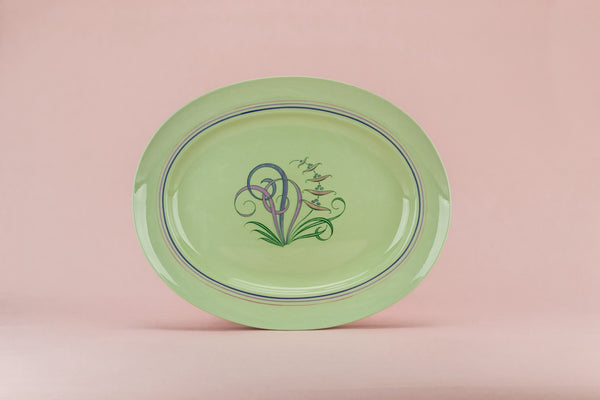 Large green serving platter