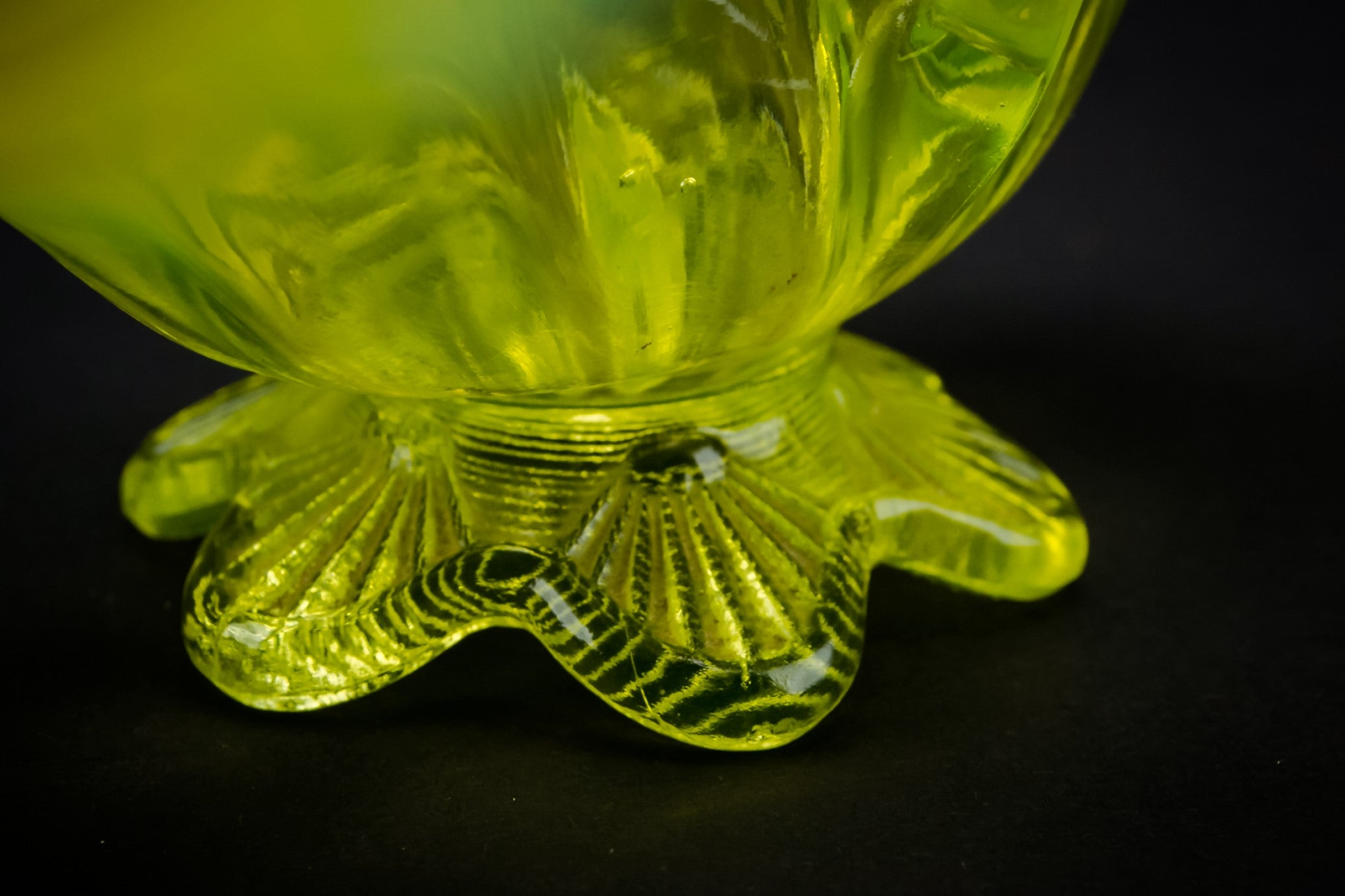 Small decorative glass vase