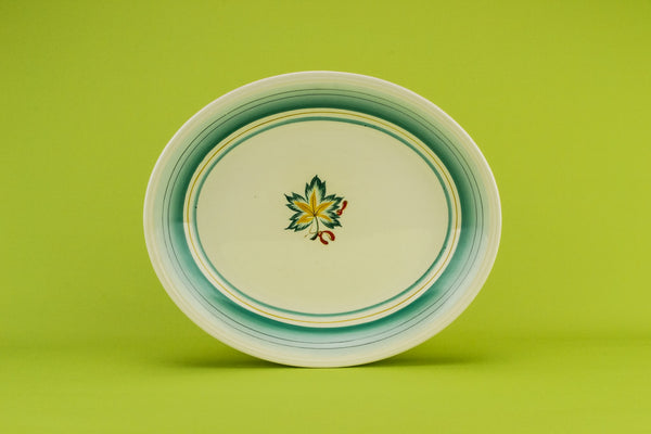 Small green serving platter