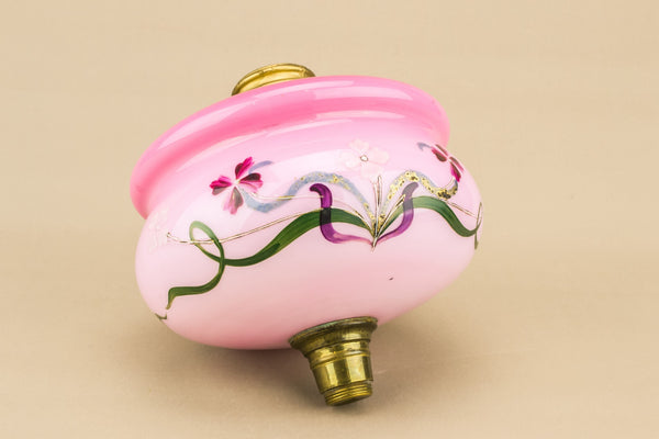 Pink glass oil lamp canister
