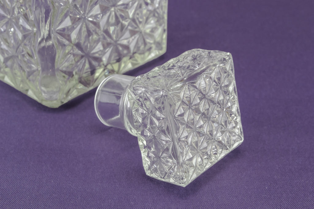 3 square glass decanters set