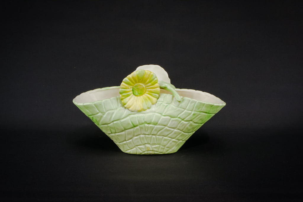 Green basket bowl
