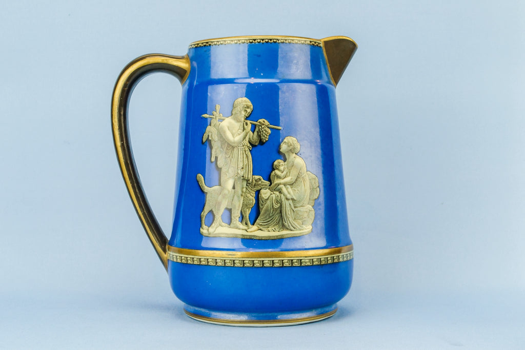 Blue water jug
