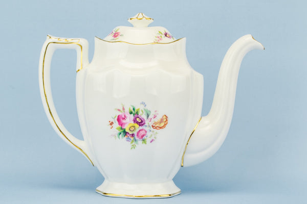 Coalport floral coffee pot