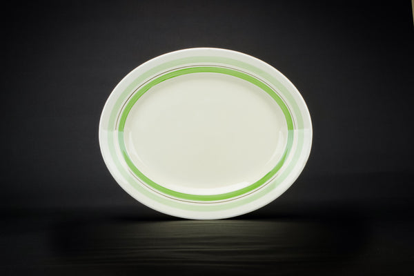Green stripes platter