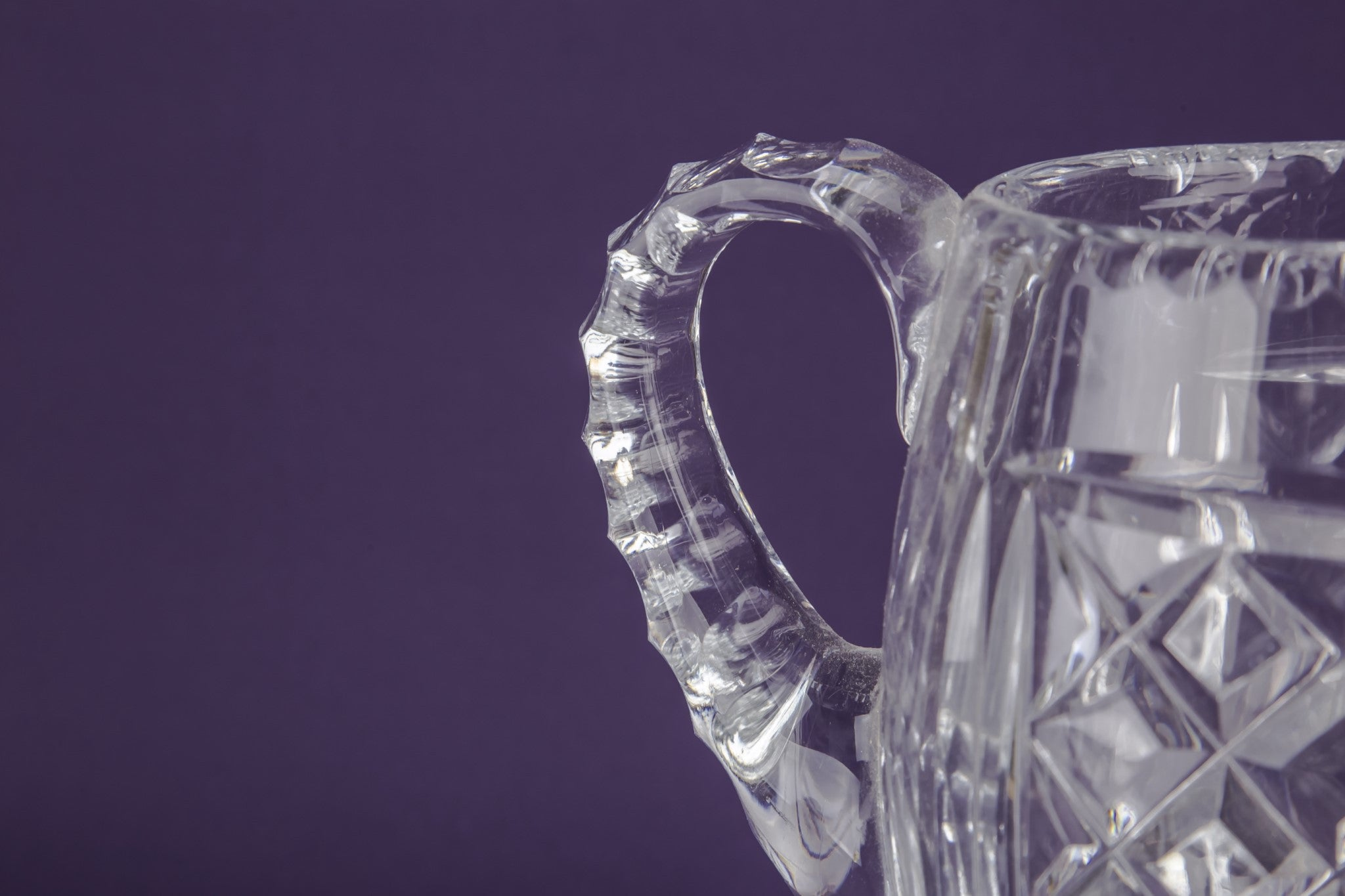 Cut crystal water jug