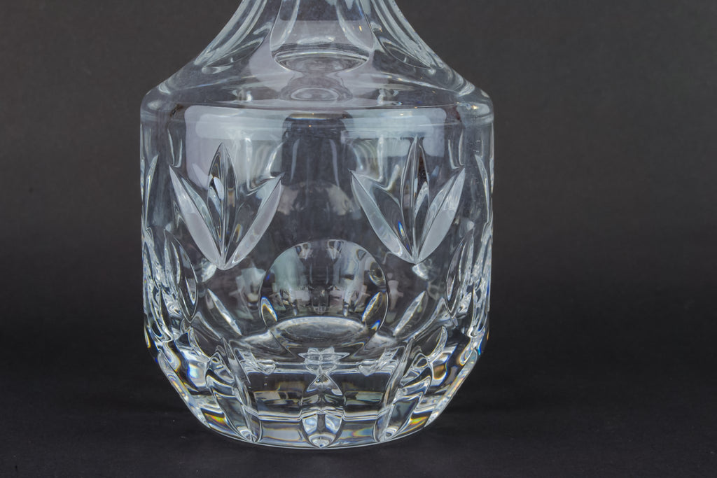 Slick cut glass decanter