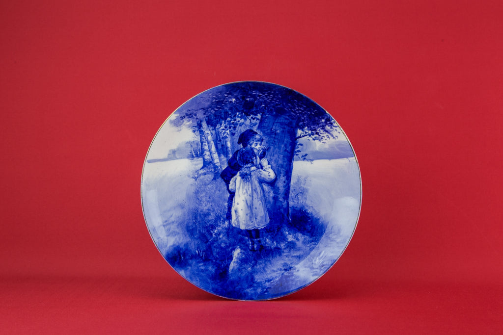 Blue and white Doulton plate