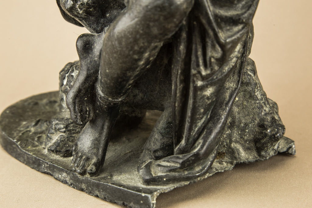 Bronze seated Muse