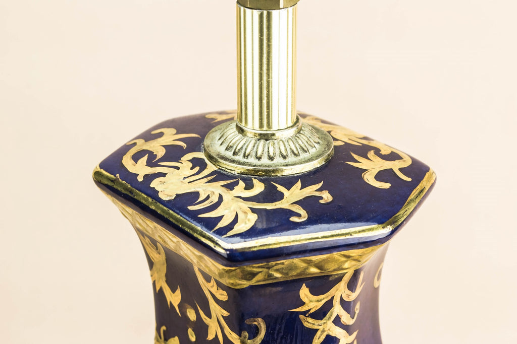 Blue and gold lamp