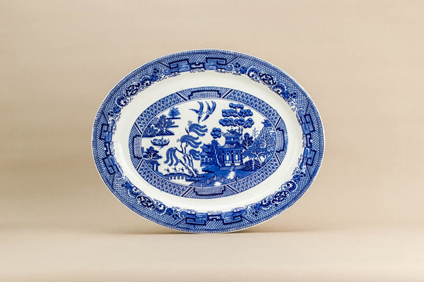 Traditional blue platter