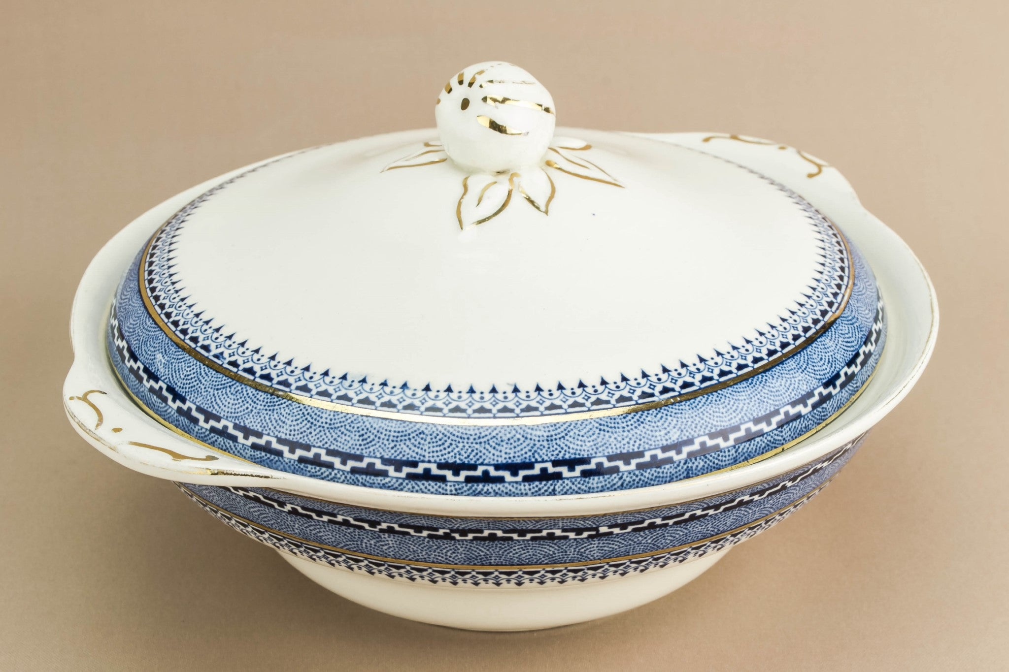 Blue ceramic tureen