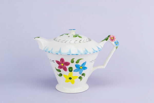 Colourful ceramic teapot