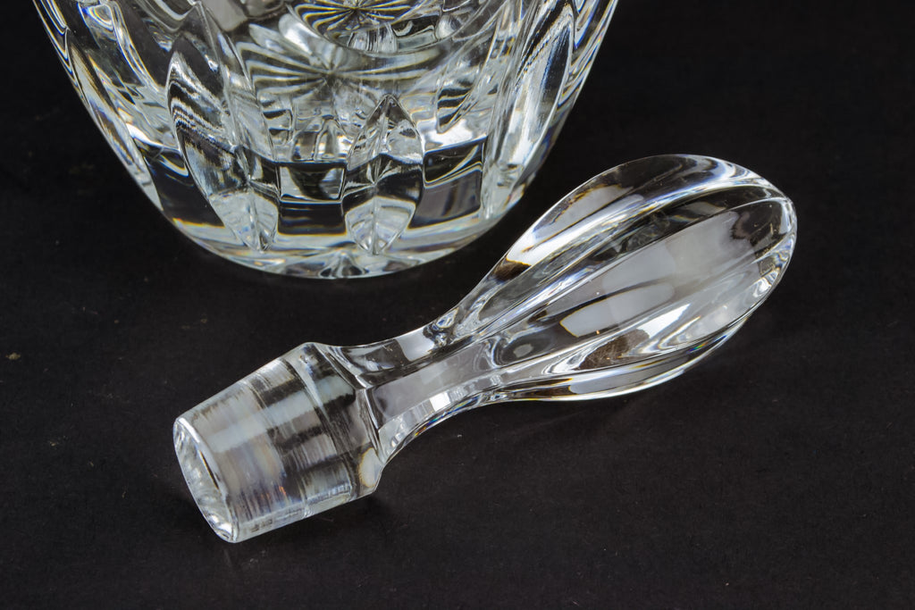 Cut glass sherry decanter